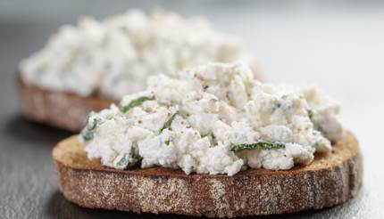 Ricotta cheese on toast