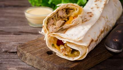 Chicken Shawarma in a wrap