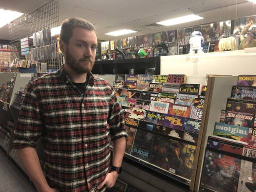 Aaron Kurtzer manages the original Comic Book Shoppe location on Clyde Avenue in Nepean and said he shopped at the stores long before working there. If they closed, he said he would not only lose his job but something that he's passionate about.