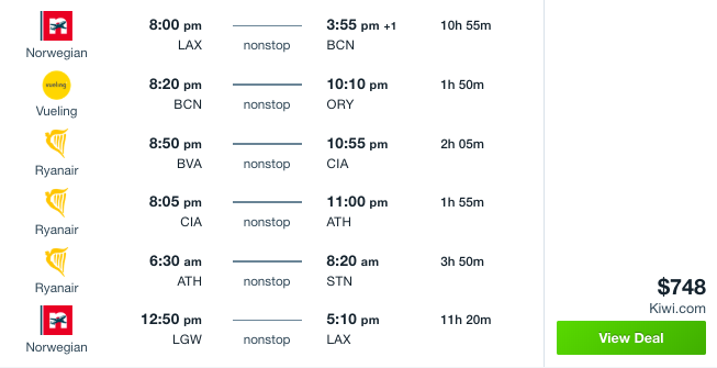 5-Country Euro Trip For $748: Fly Nonstop LA To Barcelona, Paris, Rome, Athens, London & Back! - 2