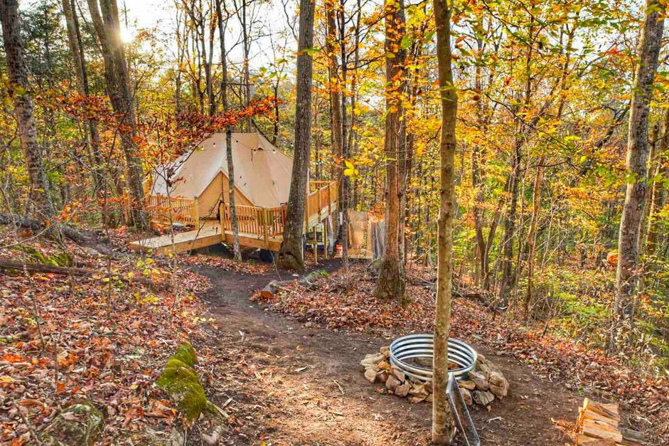Weekend Waterfall Glamping in Tennessee from $87