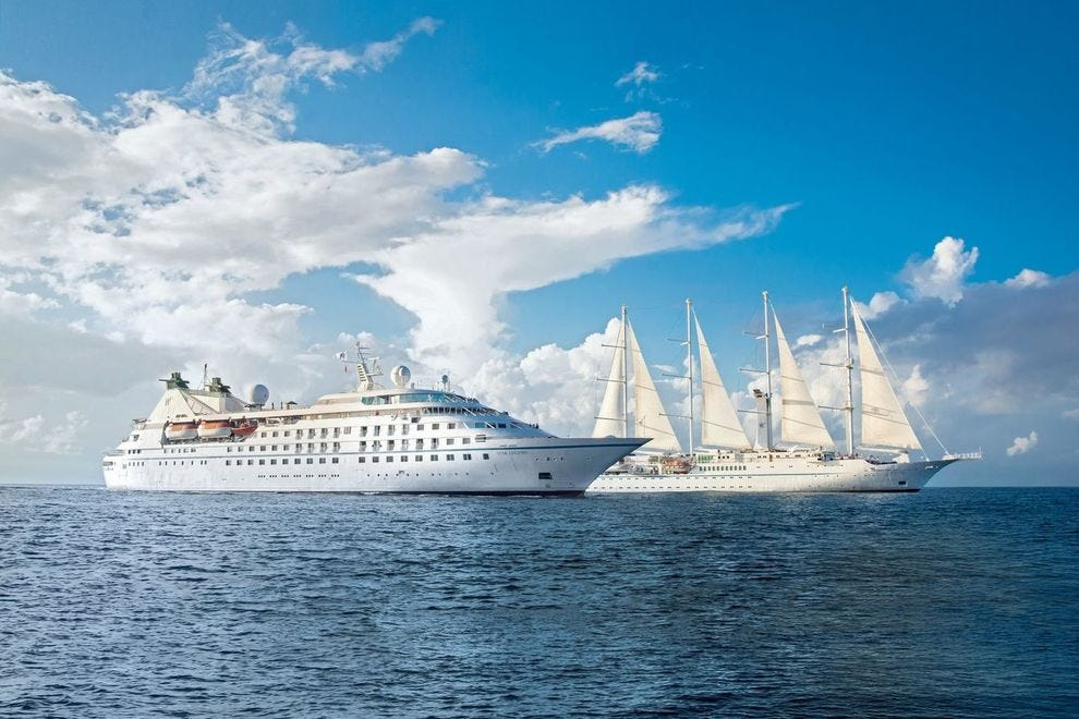 Windstar ships carry a maximum of 350 passengers