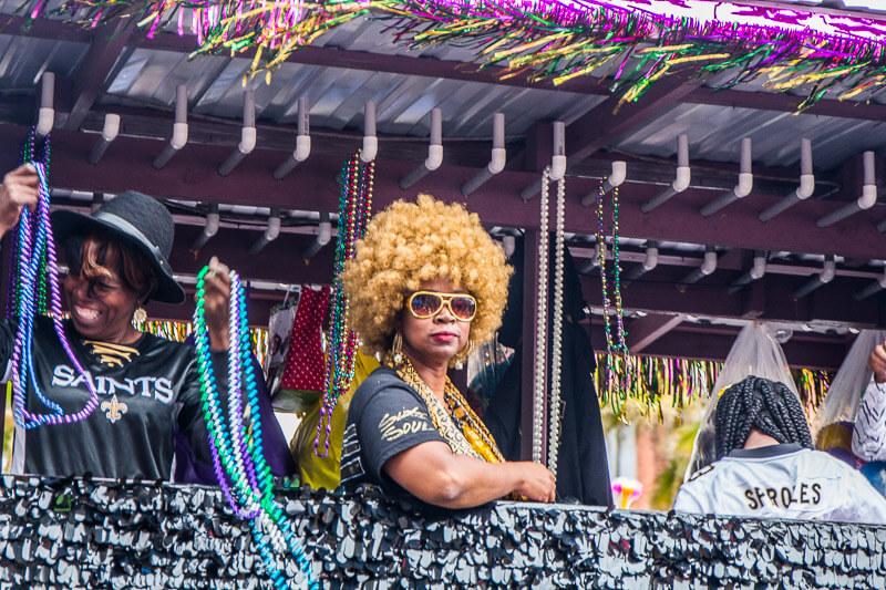 Krewe of Elks Parade at Mardi Gras in New Orleans