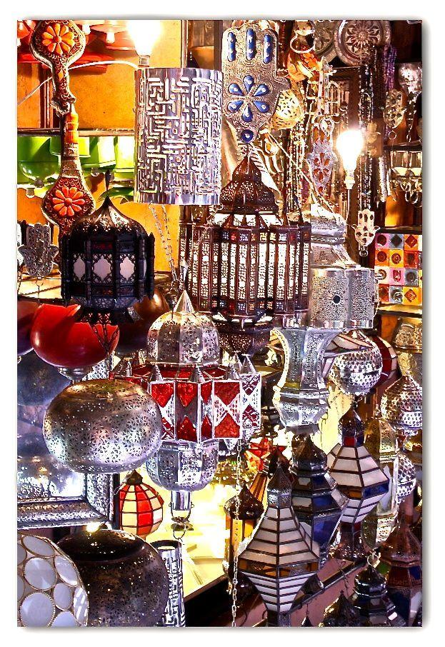 Hand-made metal lanterns