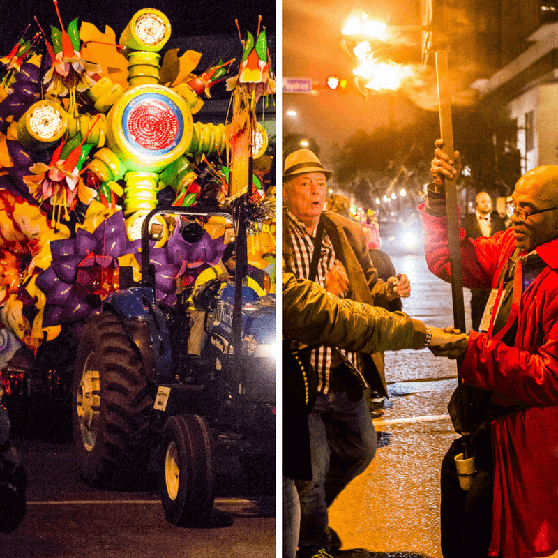 Orpheus Parade at Mardi Gras in New Orleans