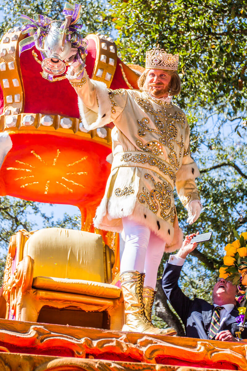 King Rex at the Rex Parade at Mardi Gras in New Orleans