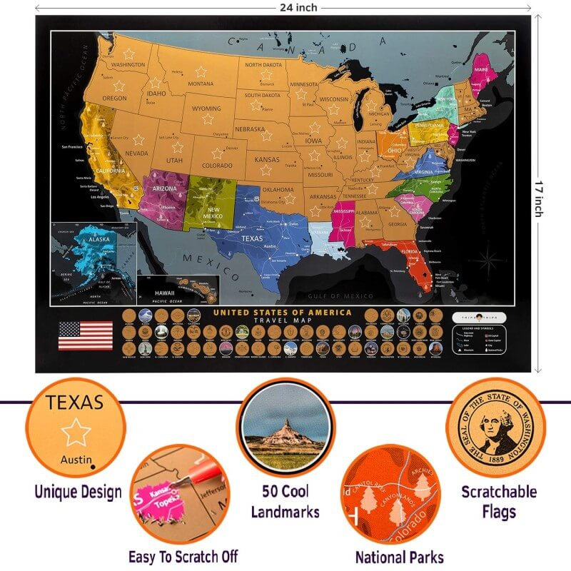 scratch maps gift ideas for kids