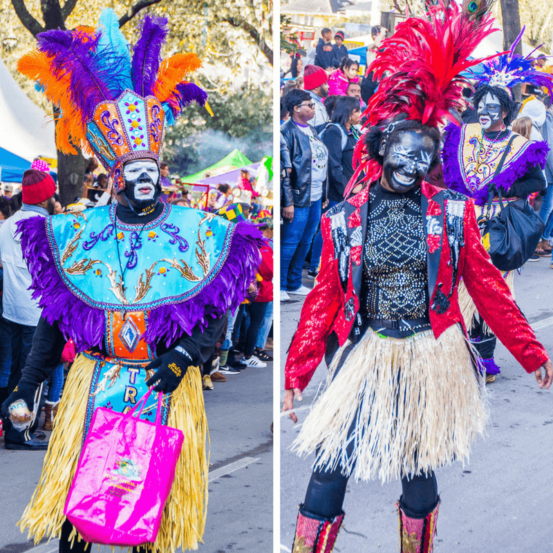 Zulu Parade at Mardi Gras in New Orleans