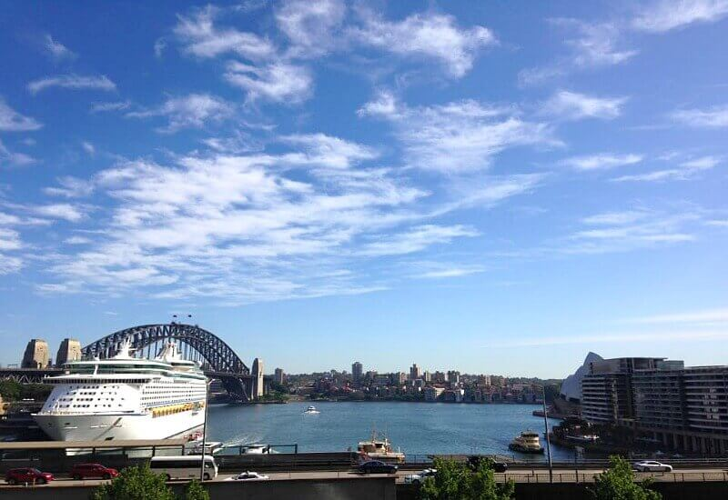 View of Sydney Harbour from Cafe Sydney