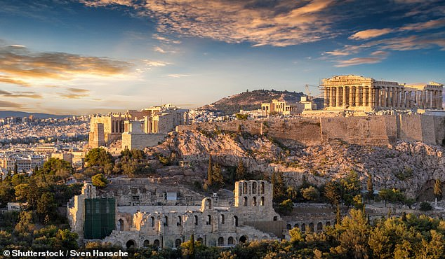 Jetsetters can fly to the Greek capital of Athens (pictured) for as little as $329