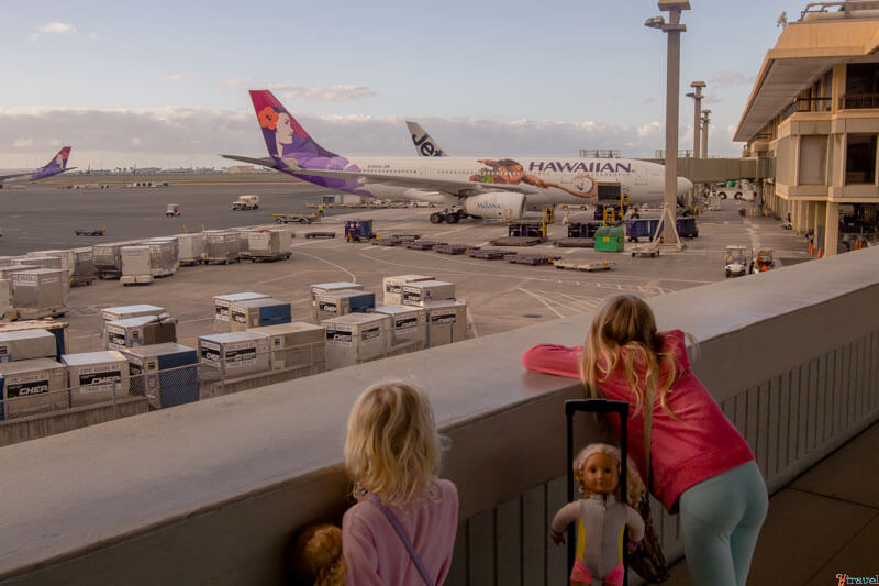Flying from Hawaii to Los Angeles