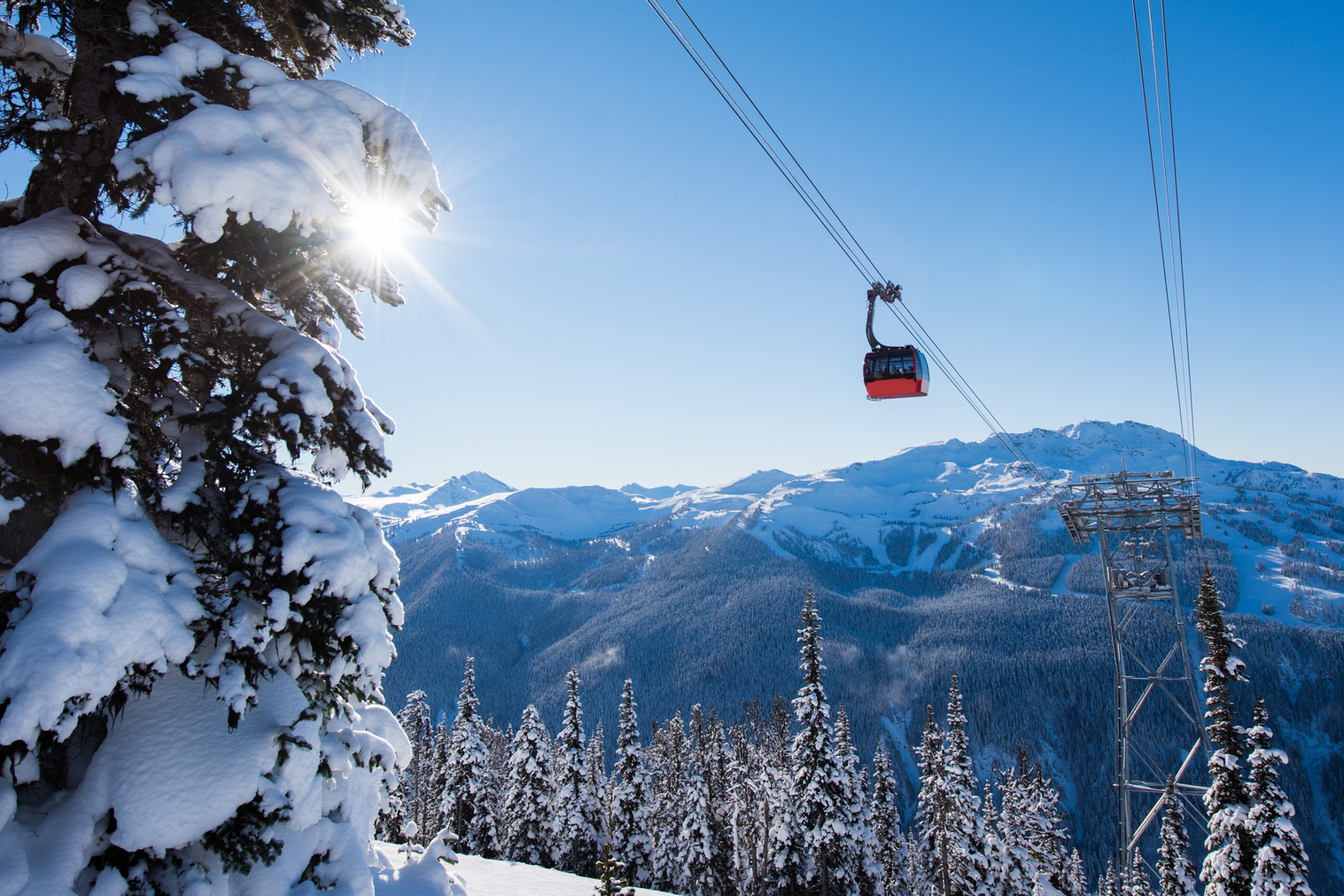 The Peak to Peak Gondola at the Whistler Blackcomb Resort. (Photo by stockstudioX/Getty Images)