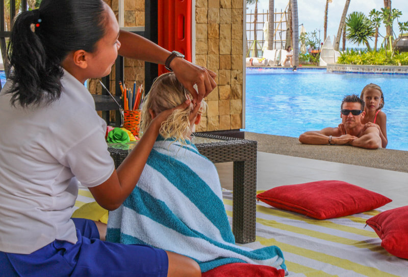 The Movenpick Resort on Punta Bunga Beach is one of the best places to stay in Boracay, the Philippines. Click to read tips on things to do in Boracay with kids