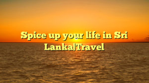 Spice up your life in Sri Lanka|Travel