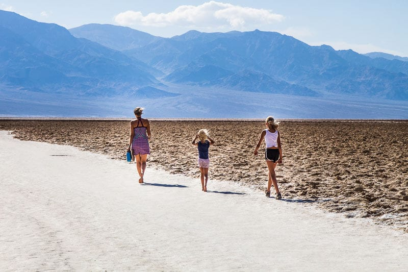 Salt flats at Badwater Basin, in Death Valley