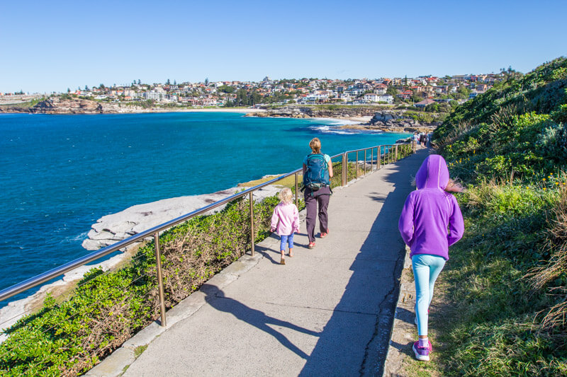 One of the best things to do in Sydney with kids is the Bondi Beach to Bronte Beach coastal walk.