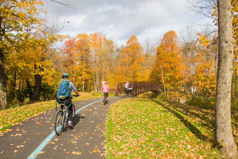 family friendly bike ride on the Stowe Recreation Path in Vermont New England (3)