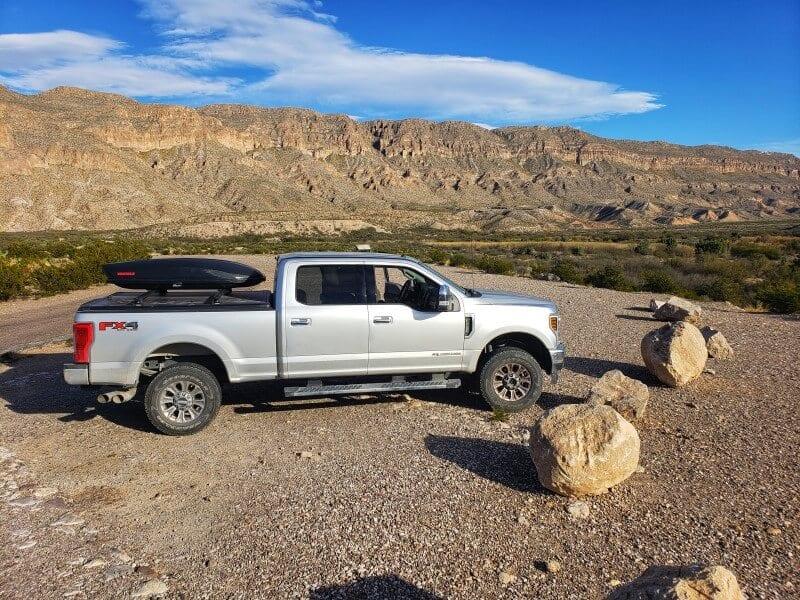 rv trip ford 250 big bend national park