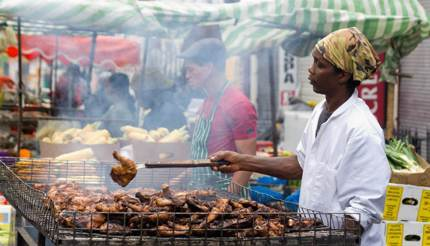 Street food at Notting Hill Carnival