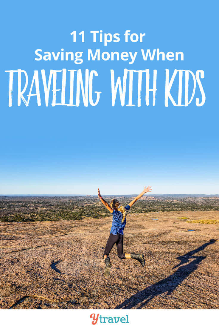 11 tips for saving money when traveling with kids. Learn how to save money on accommodation, food, sightseeing activities, getting around, and much more. You can make your family vacation dreams a reality. Click inside now for important tips about travel with kids!