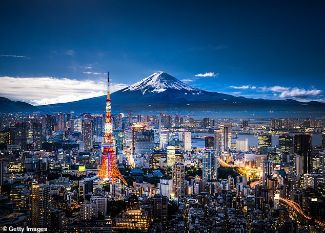 Jetstar also has flights from Australia to Tokyo (pictured) for $294 one way