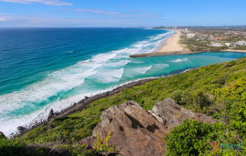 The coastal walk in Burleigh Heads National Park, Gold Coast