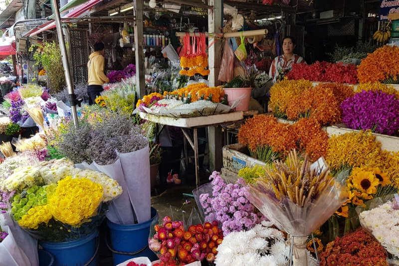 Flower market in Chiang Mai