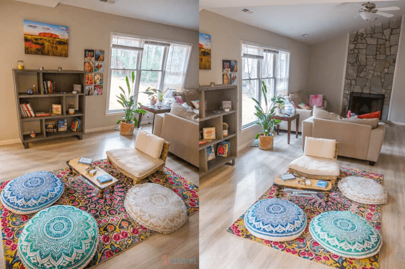 cool home meditation space