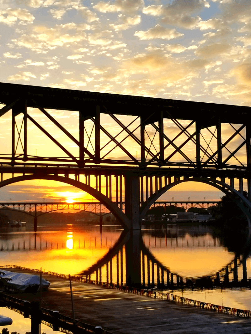 Sunrise over the Tennessee River in Knoxville