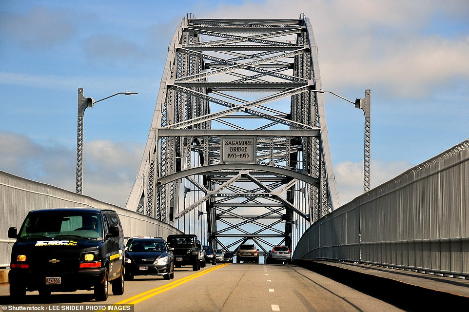 In Cape Cod, Massachusetts, another popular vacation destination among New Yorkers, full-time residents started a petition to close bridges (such as the Sagamore Bridge, pictured) to cars with out of state license plates
