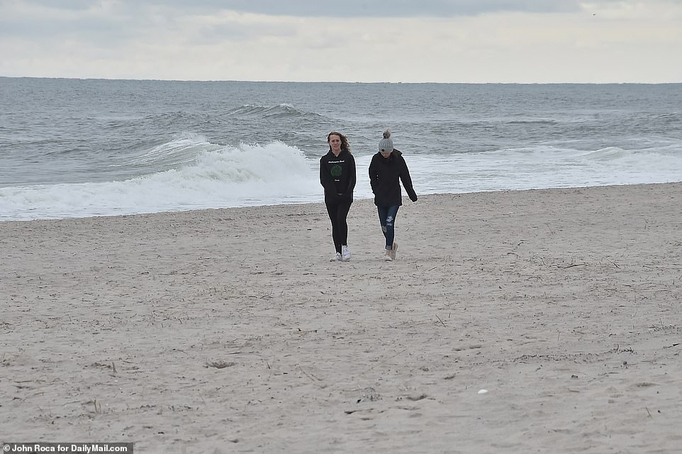 Beaches in Westhampton were quiet on Tuesday as clouds covered the sky