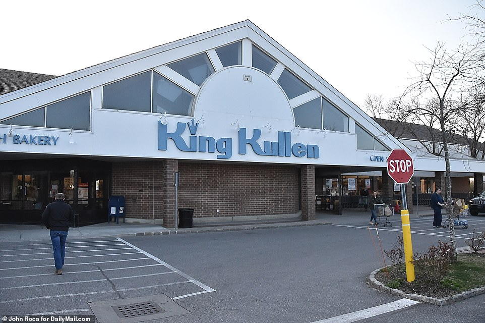 This King Kullen in Bridgehampton had many empty shelves on Tuesday as New Yorkers flee the city