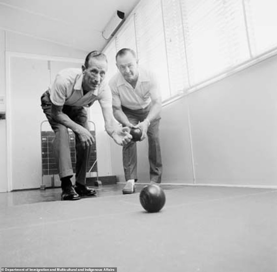 Victorians are seen playing bowls at home in 1971 (pictured) with similarly wholesome activities also making a resurgence