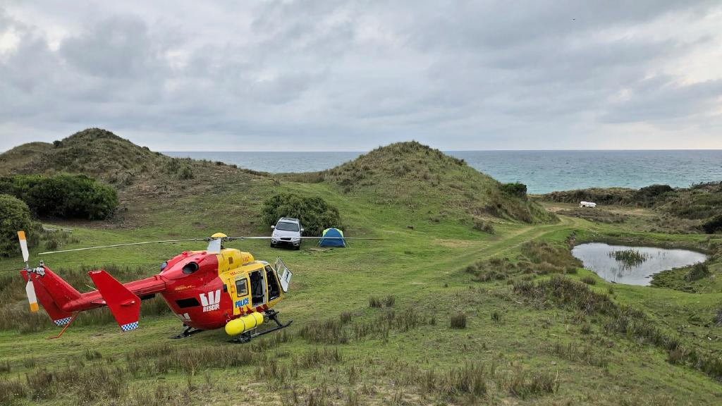 A remote campsite detected by the Westpac Rescue Helicopter over the Easter long weekend. Picture: TASMANIA POLICE