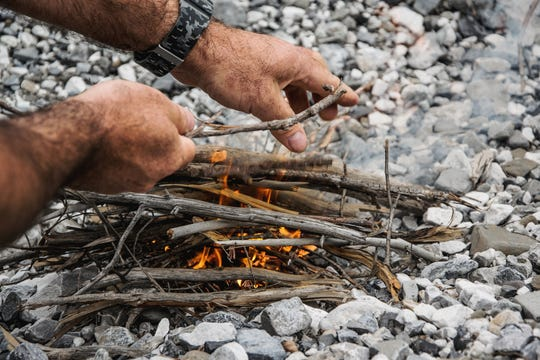 Building a fire? Start small and take your time to allow bigger, damper, pieces of wood to completely dry before adding more.