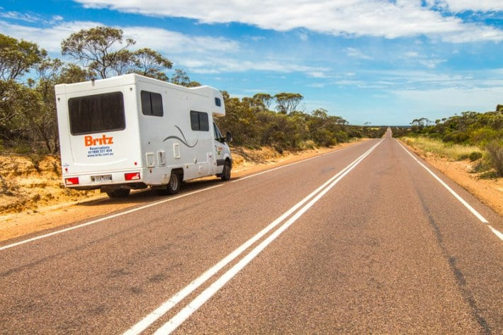 Getting around the Eyre Peninsula in South Australia. We had a Britz motorhome