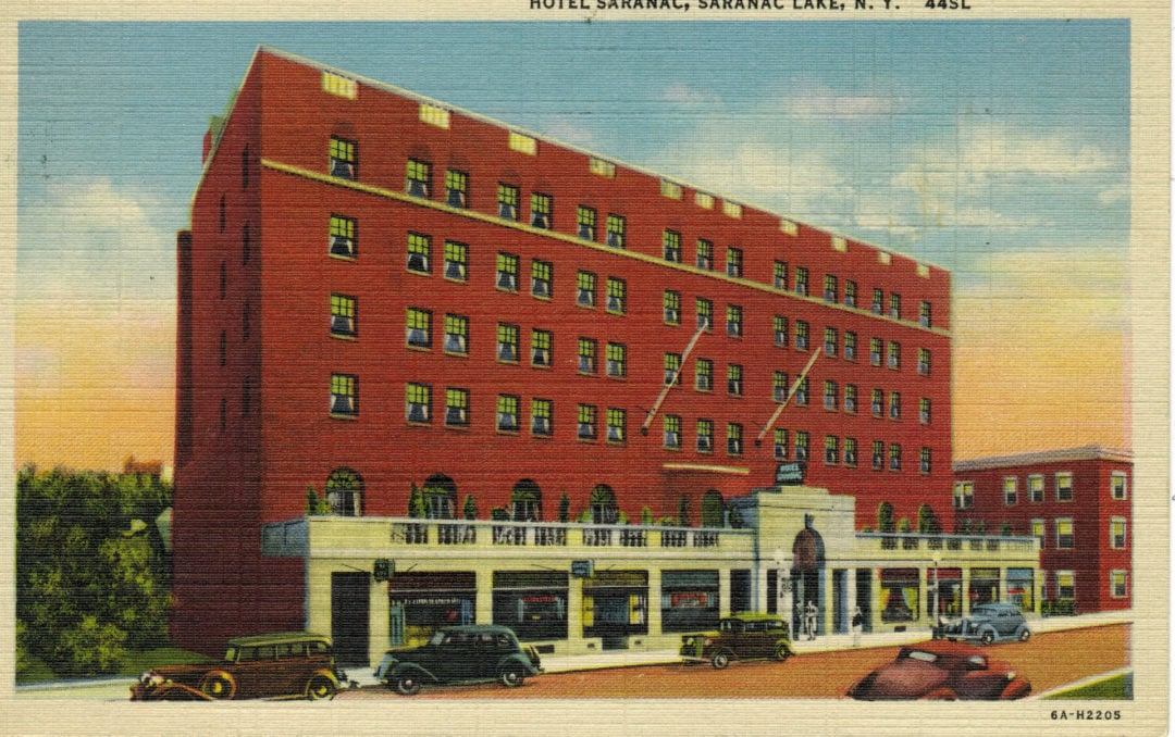 Historic depiction of the Hotel Saranac.