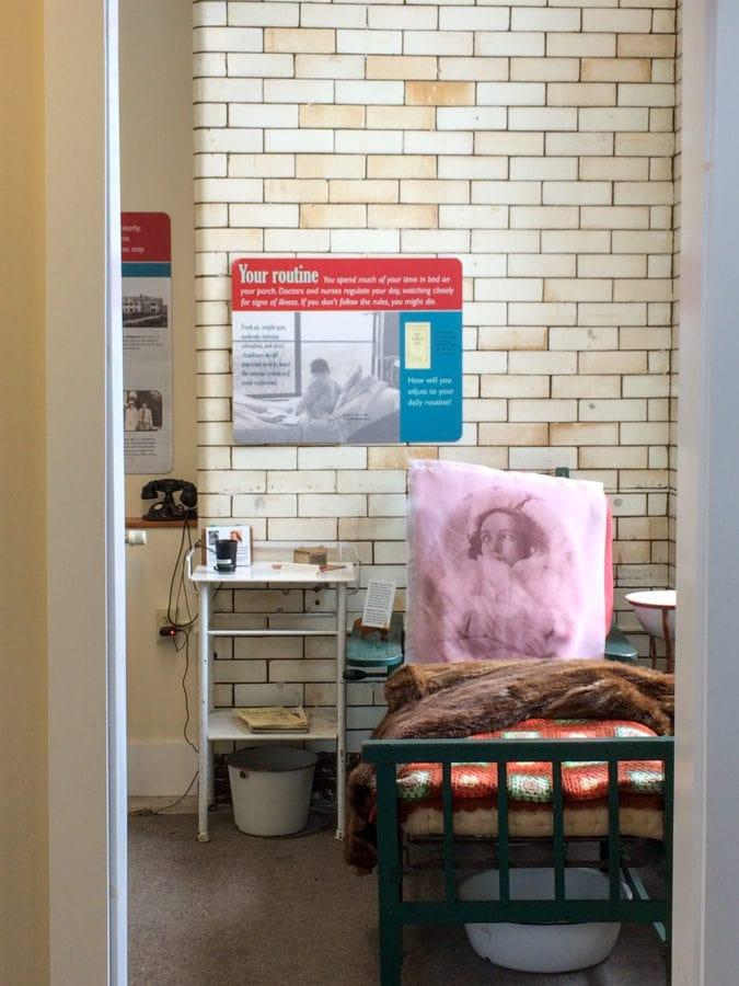 Saranac Laboratory Museum display.