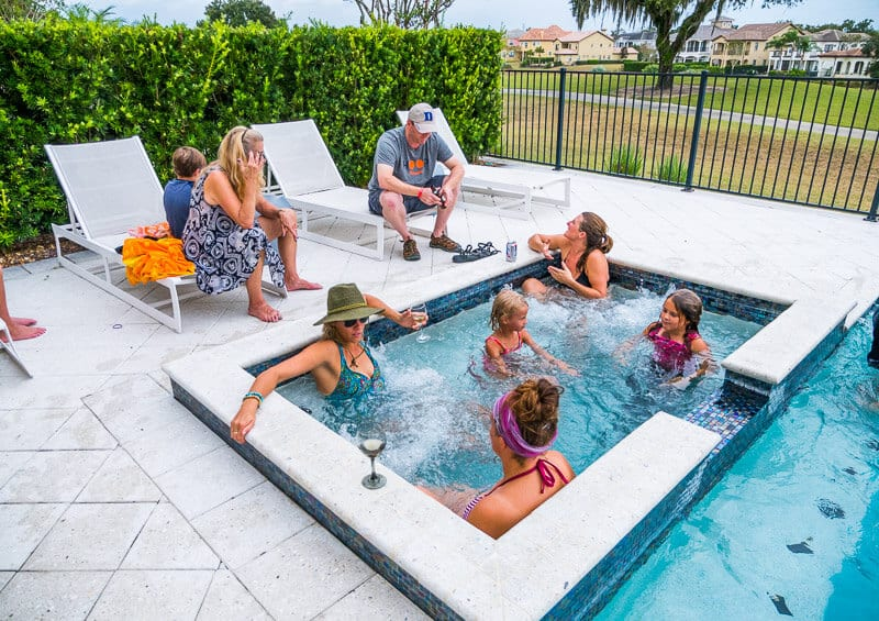 Hot tub at Reunion Resort vacation rentals