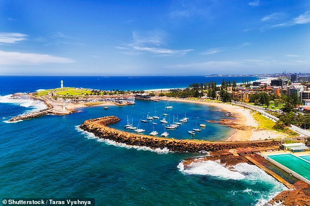 Wollongong (pictured), south of Sydney, saw accommodation interest up over 480 per cent in June