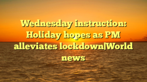 Wednesday instruction: Holiday hopes as PM alleviates lockdown|World news