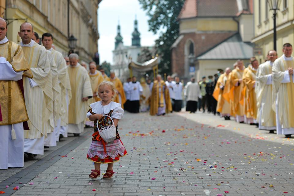 Corpus Christi Procession In Krakow, Poland