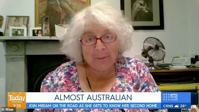 Sightseeing: English actress Miriam Margolyes has revealed her favourite Australian city, after being slammed for labelling the country 'brutal' and 'greedy' in an ABC documentary series