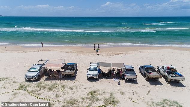 Queensland's Wide Bay region north of Brisbane, covering the cities of Bundaberg and Hervey Bay near Fraser Island (pictured), has Australia's second highest jobless rate of 17 per cent - a surge from 8.8 per cent in just five months