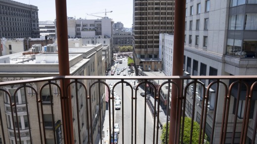 The view from the Handlery Union Square Hotel over downtown San Francisco.