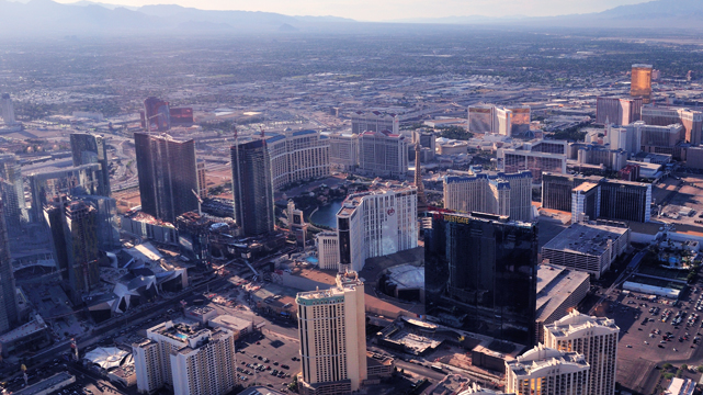 Sky View of Las Vegas During the Day