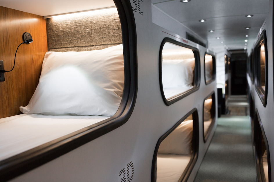 Get Your Own Pod on a Luxe Sleeper Bus Between Los Angeles & San Francisco! - 2