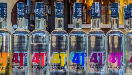 Bottles of Pálinka
