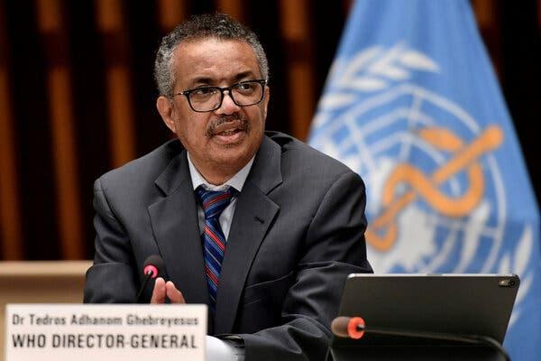 Tedros Adhanom Ghebreyesus, the director-general of the World Health Organization, earlier this year.