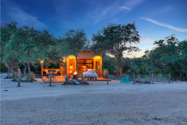 Hill Country Tiny Home Stay in Texas from $120—Sleep Underneath the Stars!